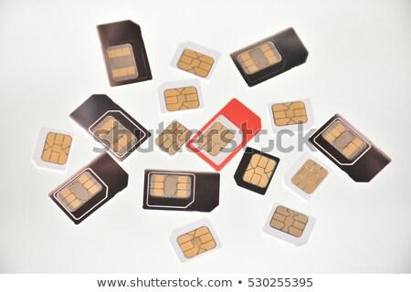 Nano kartları beton Internet teknoloji Stok fotoğraf © AndreyPopov