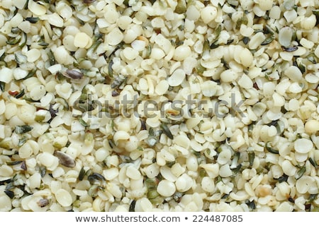 top view of shelled hemp seeds can be used as background stock photo © melnyk