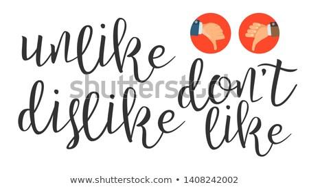 Moderno caligrafia nosso cartas vetor elegante Foto stock © pikepicture
