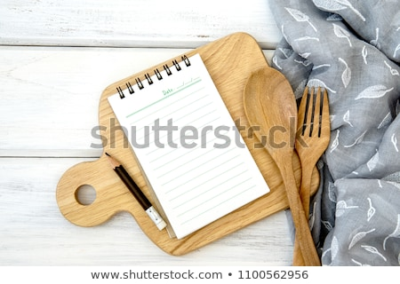 Recipe Blank Line Empty Space for Food Preparation Stock photo © robuart