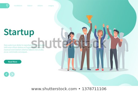 vetor · startup · estilo · sinais · bandeira · novo - foto stock © robuart