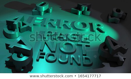 3d illustration of the html error code 404 stock photo © spectral