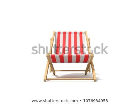 Blanco cubierta silla mar playa vacío Foto stock © AndreyPopov
