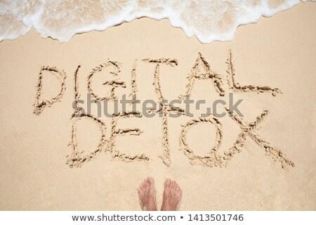 Ayak dijital metin dalga Stok fotoğraf © AndreyPopov