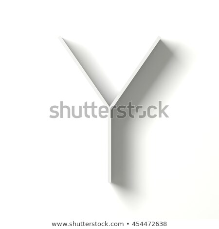 Line font with shadow Letter Y 3D Stock photo © djmilic