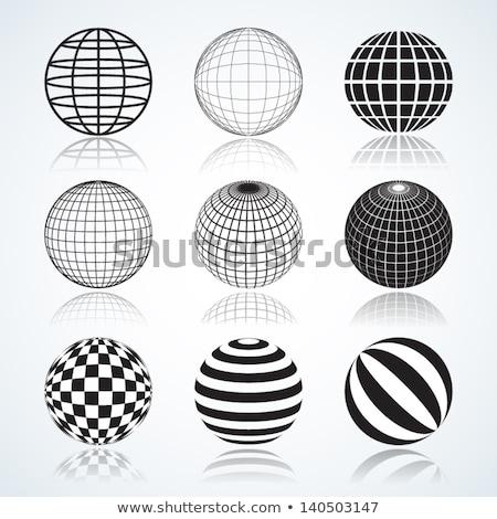 Patrón nueve globos tierra todo Foto stock © netkov1