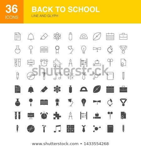 Back to School Line Web Glyph Icons Stock photo © Anna_leni