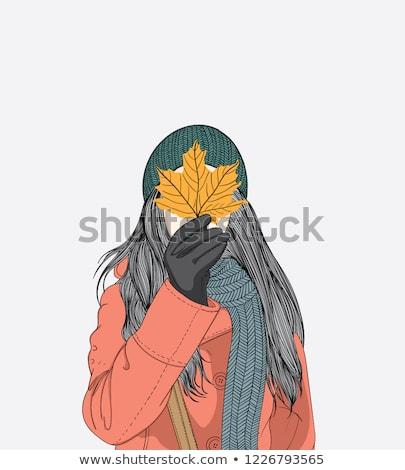 Girl Dog Spa Day Illustration Stock photo © lenm