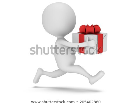3d man in a hurry for the holiday Stock photo © AlexMas