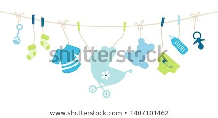 anúncio · nascimento · bebê · natureza · criança · engraçado - foto stock © adrenalina
