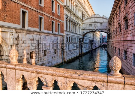 Veneza ponte Itália nascer do sol água edifício Foto stock © AndreyPopov