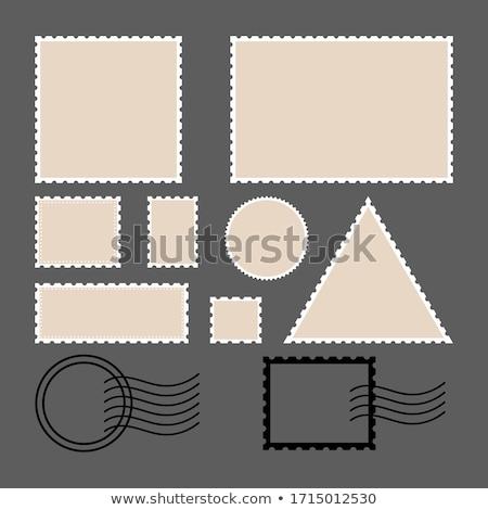 Postabélyeg szett gyűjtemény tér kör négyszögletes Stock fotó © FoxysGraphic