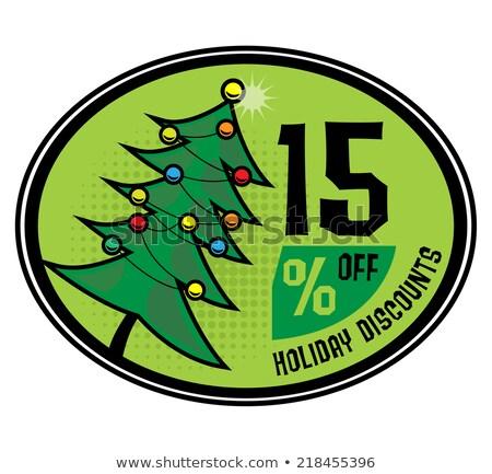 Desconto novo oferecer venda 15 por cento Foto stock © robuart