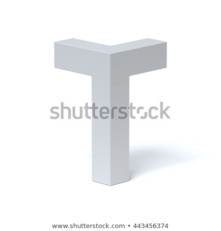 Blue extruded font Letter T 3D Stock photo © djmilic