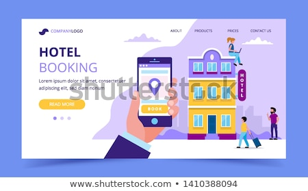 Booking hotel concept landing page Stock photo © RAStudio