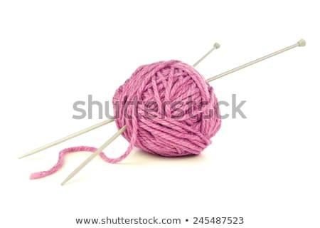 roze · garen · bal · witte · textuur · achtergrond - stockfoto © dolgachov