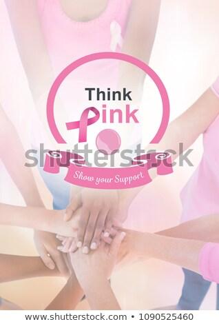 と思います ピンク サポート 文字 乳癌 認知度 ストックフォト © wavebreak_media