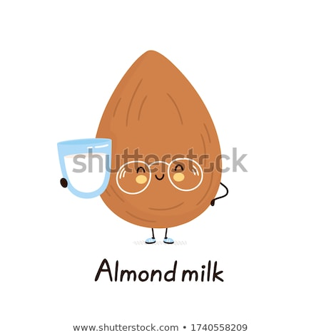Mascot Almond Nut Milk Illustration Stock photo © lenm