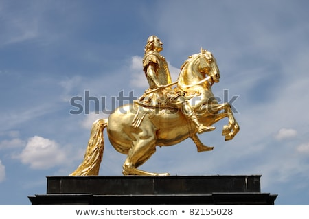 Sculptuur koning augustus dresden Duitsland gouden Stockfoto © borisb17