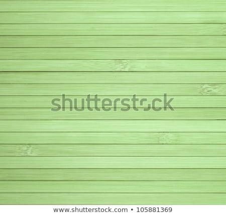 Zielone bambusa ogrodzenia drewna lasu liści Zdjęcia stock © galitskaya