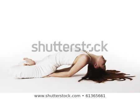 Woman in lotus fish Yoga posture (Matsyasana) Stock photo © lichtmeister