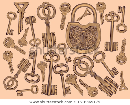 Classical Key Filigree Medieval Color Vector Stock photo © pikepicture
