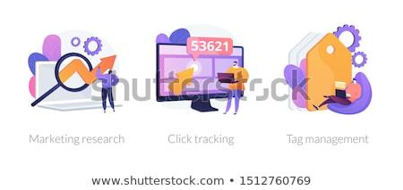 Klikken digitale marktplaats zoekmachine marketing klanten Stockfoto © RAStudio