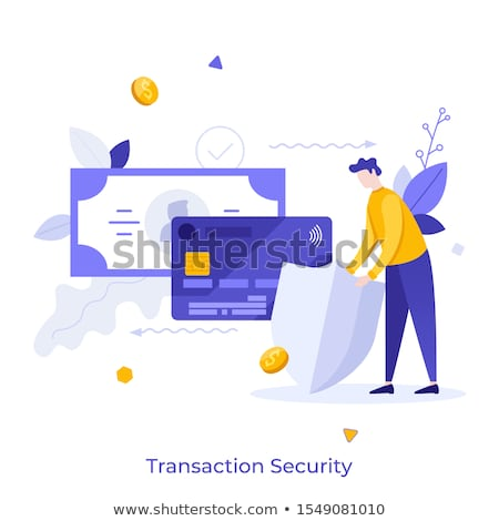 Secure payment system metaphor flat vector illustration Stock photo © Decorwithme