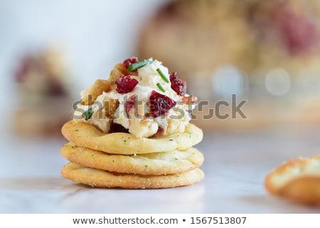 домашний клюква кремом сыра свежие белый Сток-фото © StephanieFrey