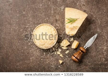 сыр пармезан каменные совета черный фон ножом Сток-фото © Alex9500
