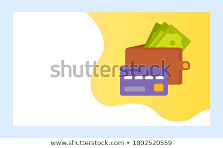 Crowdfunding Project with Purse Full of Banknotes Stock photo © robuart