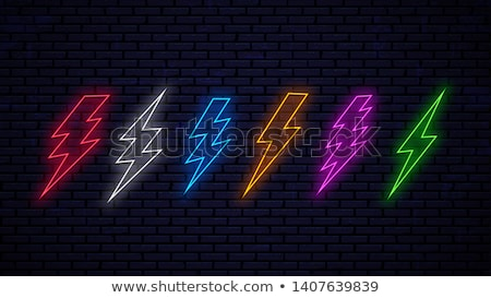 Green Electric Lightning Neon Sign Stock photo © Anna_leni