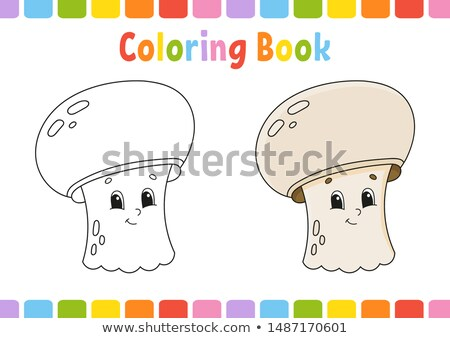 matching shapes game with food objects color book Stock photo © izakowski