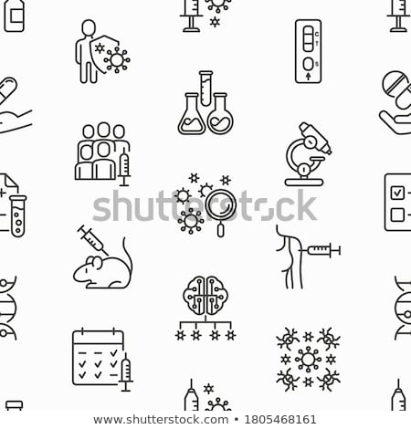 Rat Protect Seamless Pattern Vector Stock photo © pikepicture