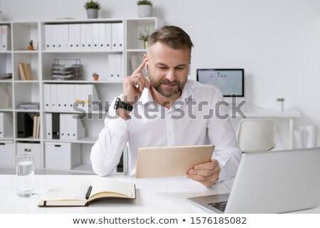 успешный работодатель touchpad смотрят онлайн видео Сток-фото © pressmaster