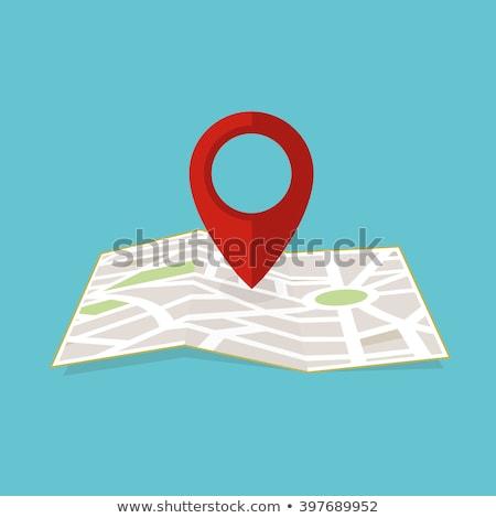 Kleur illustratie kaart route plaats navigatie Stockfoto © barsrsind
