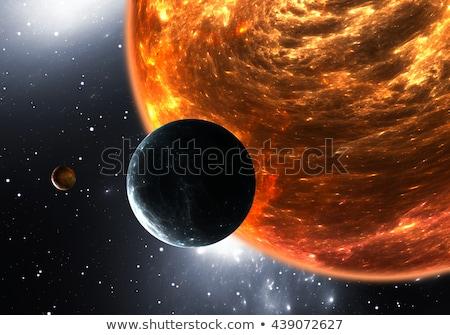 Rojo enano estrellas oscuro espacio ilustración Foto stock © bluering
