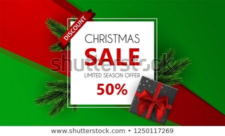 Final Navidad venta 50 por ciento Foto stock © robuart