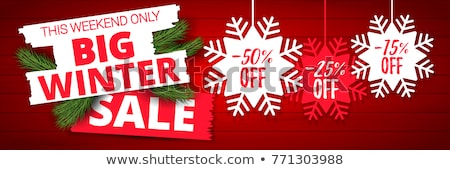 Christmas Sale Clearance, Promotional Blue Poster Stock photo © robuart