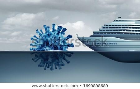 cruiseschip · coronavirus · griep · boot · af · zee - stockfoto © lightsource