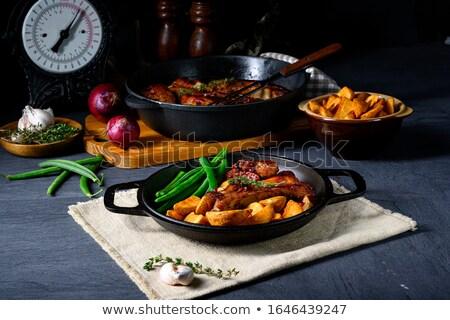リブ 豚肉 豆 四半期 ジャガイモ ストックフォト © Dar1930