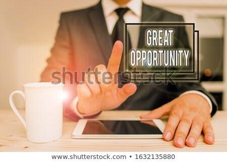 focus · groot · gelegenheid · baan · zoeken · Zoek - stockfoto © johnkwan