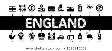 England United Kingdom Minimal Infographic Banner Vector Stock photo © pikepicture