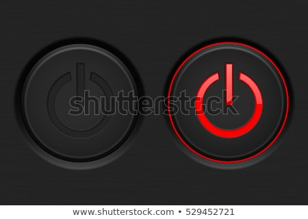 Red power button Stock photo © oneo