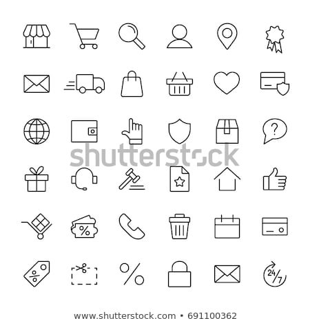 marketing and e-commerce icon set Stock photo © ayaxmr