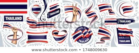 Vettore set bandiera Thailandia creativo Foto d'archivio © butenkow