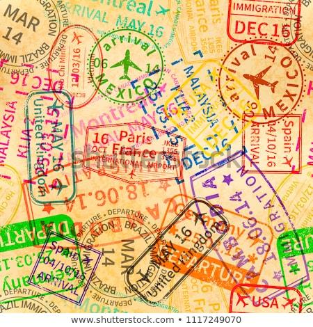 многие ярко красочный иммиграция марок старые Сток-фото © evgeny89