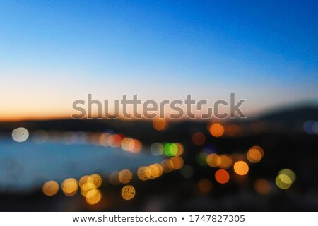 Blurred night view of a village on the coast, landscape and nature Stock photo © Anneleven