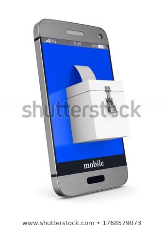 elections on Internet. Isolated 3D illustration Stock photo © ISerg
