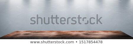 Luz cinza tabela branco lata Foto stock © artjazz